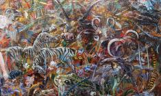 Expulsion from Paradise. Oil on canvas.170х73. 2005. Fr.5