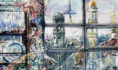 Flood. Oil on canvas.100х80. 2002. Fr.1
