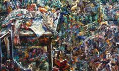 Flood. Oil on canvas.100х80.2002. Fr.2