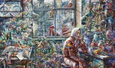 Flood. Oil on canvas.100х80.2002
