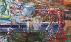 Opened Door. Oil on canvas.100х80. 2004. Fr.1