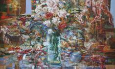 Opened Door. Oil on canvas.100х80. 2004