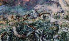 Flood. Oil on canvas.50х100.1990. Fr.1
