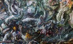 Flood. Oil on canvas.50х100.1990. Fr.2