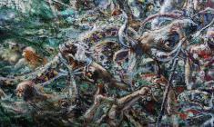 Flood. Oil on canvas. 50х100.1990.  Fr.3