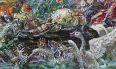 Flood. Oil on canvas.50х100.1990.  Fr.4