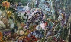 Flood. Oil on canvas.50х100.1990. Fr.5