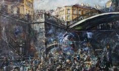 Sennoy Bidge. Oil on canvas.100х80.2002