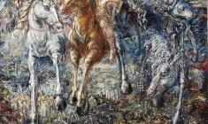 Four Horsemen. Oil on canvas.100х80.1997