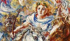 Four Horsemen. Oil on canvas.100х80.1997. Fr.1