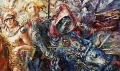 Four Horsemen. Oil on canvas.100х80.1997. Fr.3